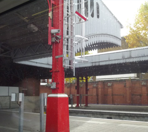 commercial canopies station steel